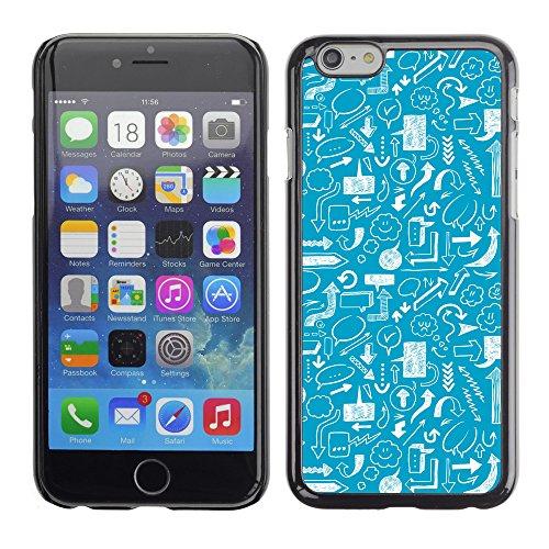 """Premio Sottile Slim Cassa Custodia Case Cover Shell // V00002520 flèches Seamless // Apple iPhone 6 6S 6G PLUS 5.5"""""""