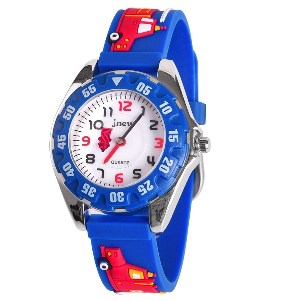4-8 Year Old Boy Gifts, Tisy Watches Gifts for 3-12 Year Old Girls Toys for 3-12 Year Old Boys Toys for 3-12 Year Old Girls Fire Truck TSUSWH02