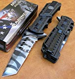 Officially Licensed USMC Marines Spring Assisted P/Knife Urban Camo MA1001UC