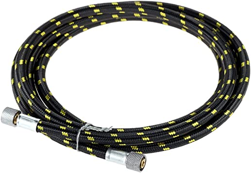 1.8m//6ft Braided Airbrush Air Hose 1//8/'/' to 1//8/'/' Fitting Compressor Adapter