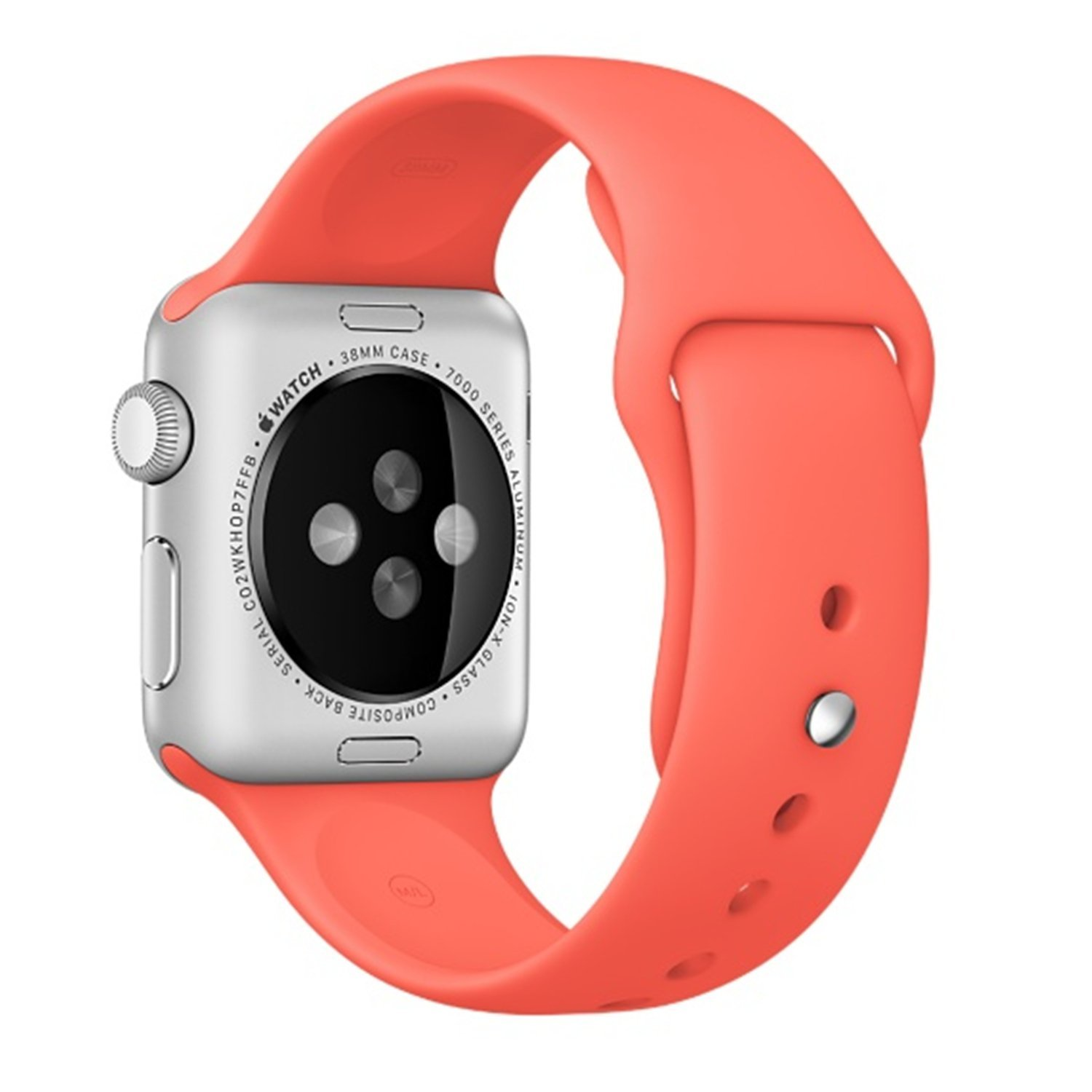 Apple Watch Band - Vitech Soft Silicone Sport Style Replacement iWatch Strap Band for Apple Wrist Smart Watch (Apricot, 42MM S/M)