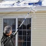 Snow Joe Telescoping Snow Shovel Roof Rake with Poly Blade