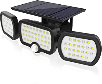 Jesled 3 Heads Outdoor Security Solar Lights