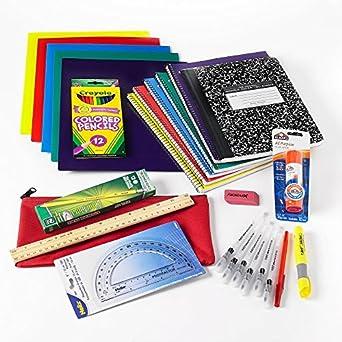 Middle School Back To School Essentials Pack de fuente de 26 piezas: Amazon.es: Amazon.es