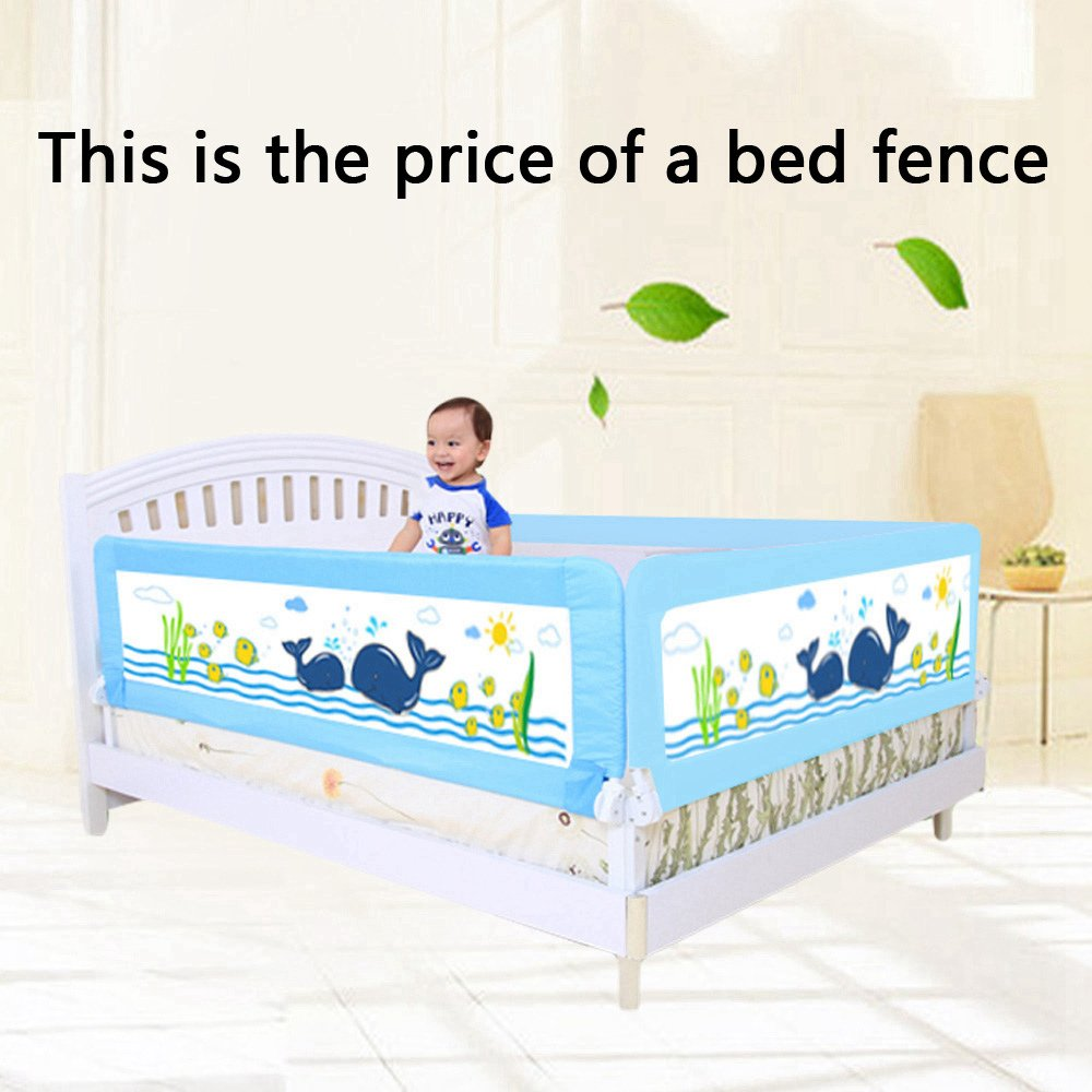 Baby bed gates - Amazon Com Kde Children Bed Rails Baby Bed Guard Rail For Toddlers 58 27 Inches Long 25 59 Inches High Blue Baby