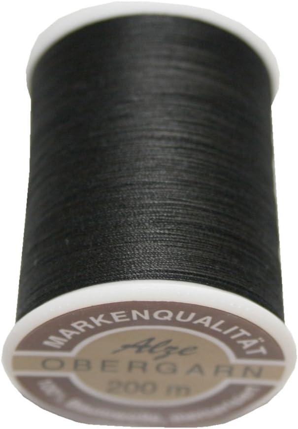Máquina de coser (exterior de hilo algodón 50/3 200 m negro (0902 ...