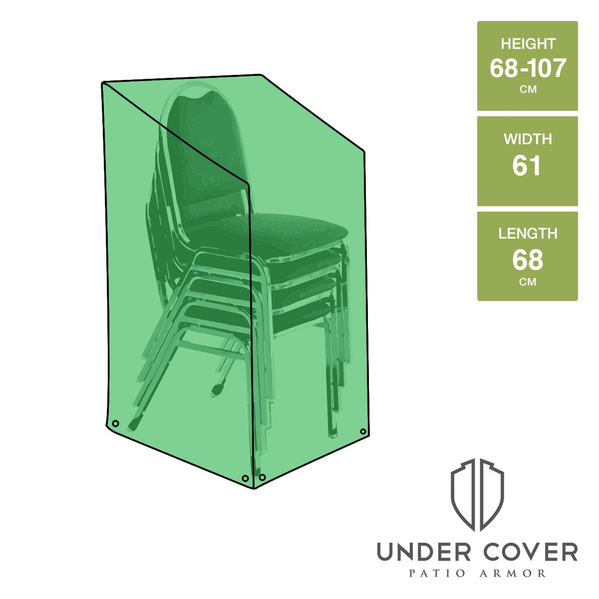 Charming UNDER COVER PATIO ARMOR Stacking/Reclining Chair Cover: Amazon.co.uk:  Garden U0026 Outdoors