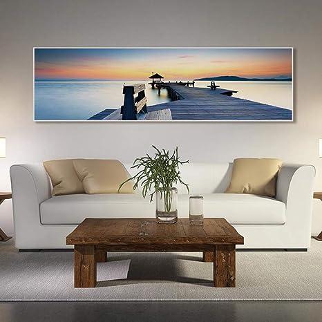 NIMCG Seaside Landscape Mural Canvas Painting Paisajes ...