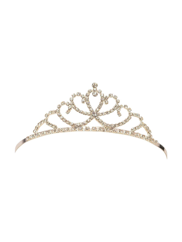 Girls Silver Clear Cristals Rhinestone Elegant Tiara Futuron