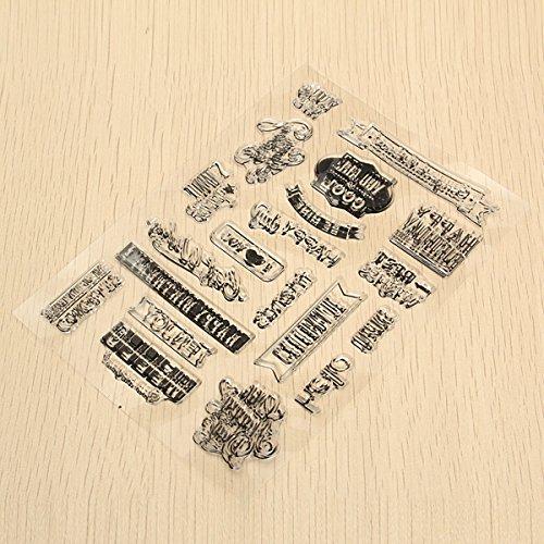 PANGUN Birthday Transparent Sheet Scrapbooking Craft Card Clear Rubber Stamp Cling Set