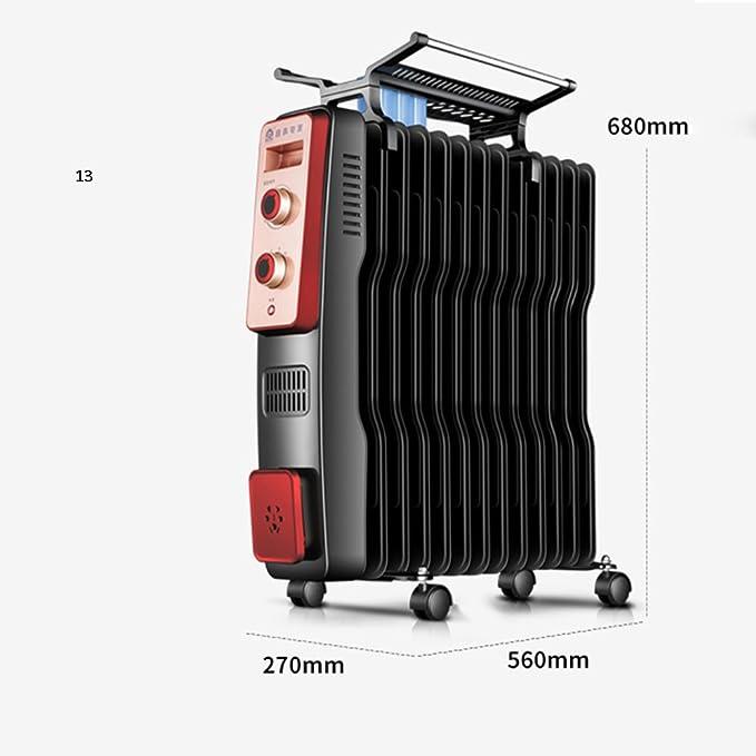 Calentador QFFL Radiador de Aceite radiador eléctrico Vertical Estufa eléctrica de Ahorro de energía Tamaño Opcional Enfriamiento y calefacción (Color : 13 ...