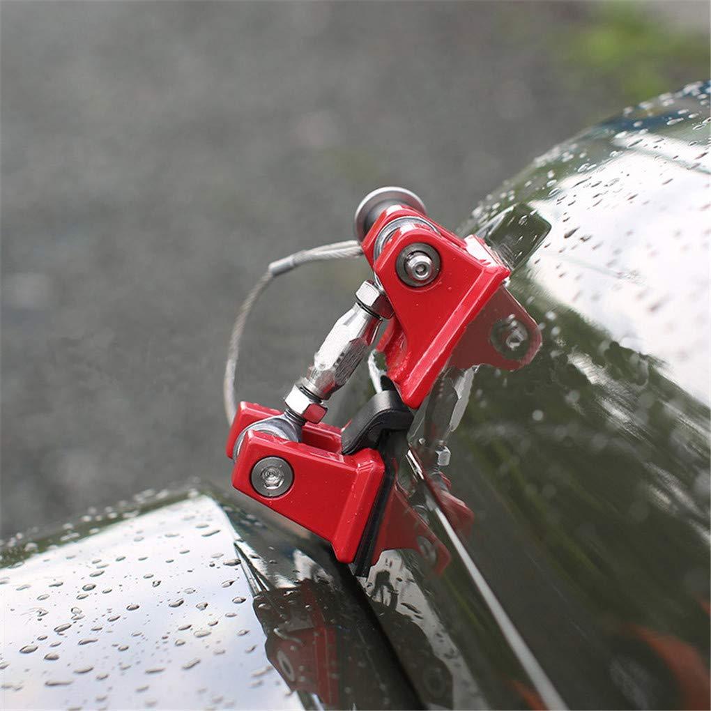 WYYINLI 1 Pair Anti-Thief Retro Customized Hood Lock Latch Bracket Buckle Hood Pin Catch Pin for Jeep Wrangle Jk 07-18 Red