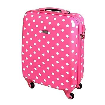 Karry 813/818 - Maleta de viaje, rígida, TSA, Color Rosa, Puntos, Handgepäck Koffer Rosa (Rosa) - 48370025: Amazon.es: Equipaje