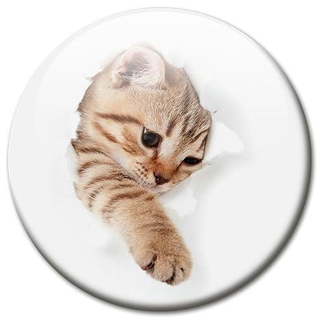 Imán Gato Desafía mediante 5 cm de diámetro Frigorífico magnético con diseño de gato filtraciones gato
