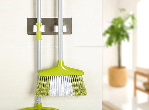 Wall Mounted Mop Organizer Holder Brush Broom Hanger Storage Rack Kitchen Tool @