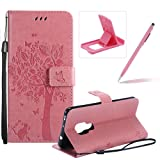 Herzzer Strap Leather Case for Huawei Mate 20,[Pink