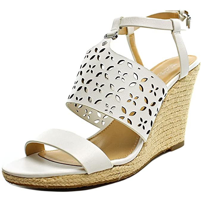 d9b766d305d Michael Michael Kors Womens Darci Wedge Leather Open Toe Casual Espadrille  Sa.