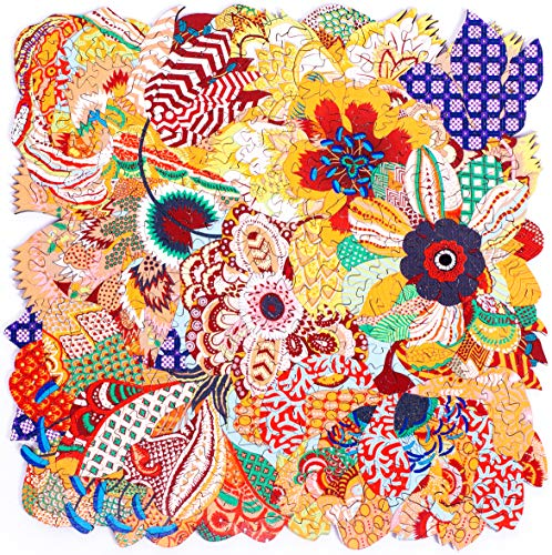 Hartmaze Wooden Jigsaw Puzzles-Flowers Fury Blossom in Beauty and Fascination 246 Truly Unique Pieces Square Shape-Best Choice for Adults and 10 Years Age up Kids. (Best Wooden Jigsaw Puzzles)