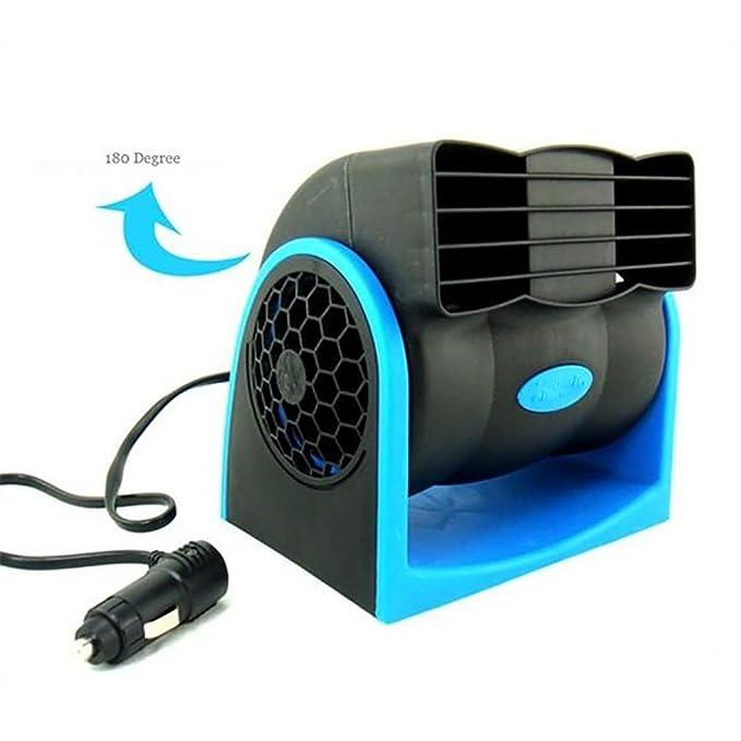 Ventilador De Enfriamiento del Coche Ventilador De Enfriamiento del Coche 12V Ventilador De Enfriamiento Automático del Coche para El Verano,Blue: ...