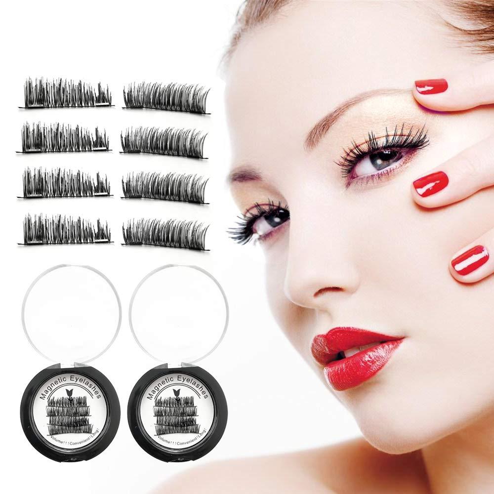68064ca2802 Magnetic Eyelashes Dual Magnets La'prado Magnetic False Eyelashes No Glue  Magnetic Lashes 3D Reusable Hand-made Extension Soft False Eyelashes No  Glue for ...