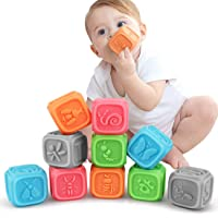 TUMAMA Baby Blocks,Soft Baby Building Blocks for Toddlers,Chewing Toys Educational Baby Bath Toys Play with Numbers…