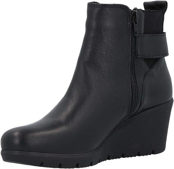 KEYS Tronchetti zeppa nero scarpe donna mod 7095
