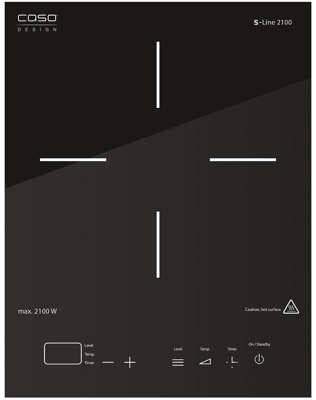 Caso S-Line 2100 - Placa de inducción portátil de un fuego