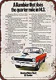 1969 AMC Hurst SC/Rambler Vintage Look Reproduction Metal Tin Sign 7X10 Inches