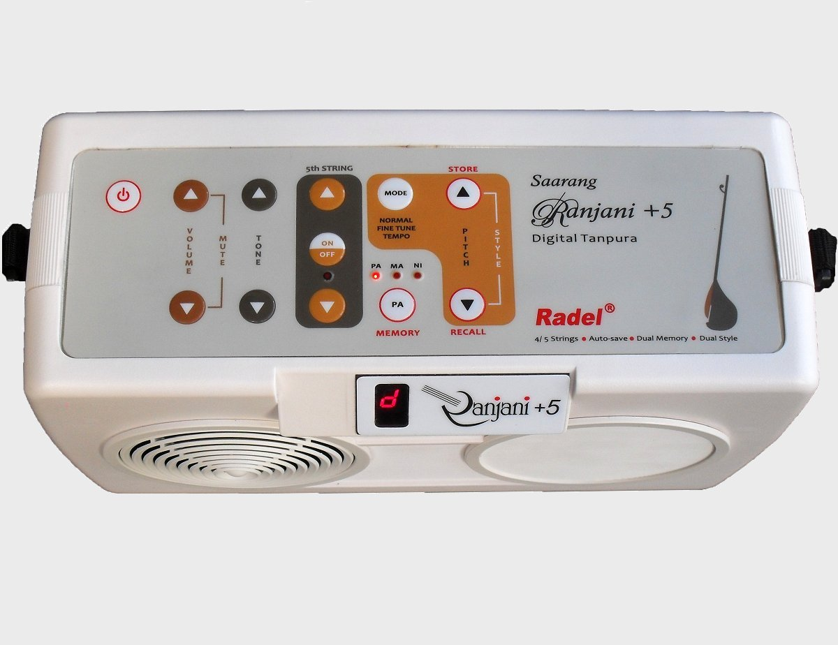 The Saarang Ranjani+5 is a Hi-fidelity natural tanpura radel by Radel (Image #2)