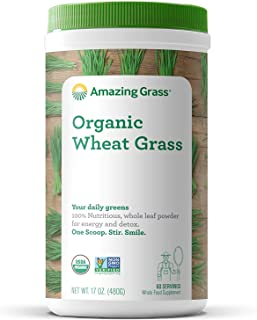 product image for Amazing Grass Wheat Grass Powder: 100% Whole-Leaf Wheat Grass Powder for Energy, Detox & Immunity Support, 60 Servings