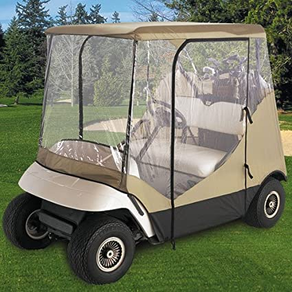 Amazon classic accessories fairway golf cart enclosure travel classic accessories fairway golf cart enclosure travel 4 sided beige publicscrutiny Gallery
