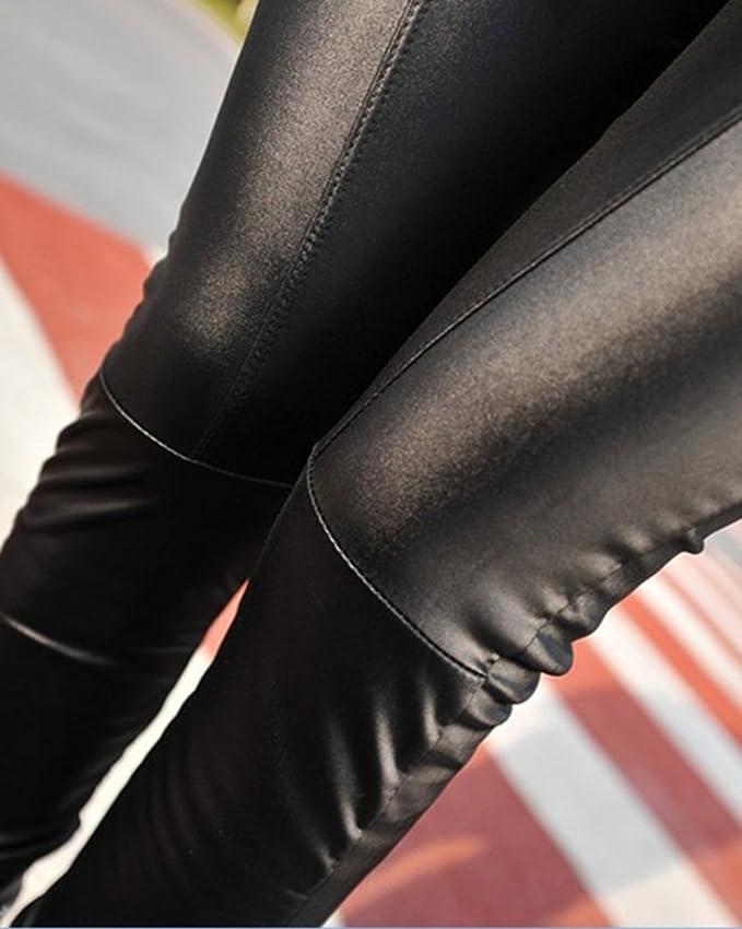 Guiran Mujer Color Sólido Skinny Pantalones Imitacion Cuero Leggings Push  Up Leggins  Amazon.es  Deportes y aire libre 6c46be79d0f8