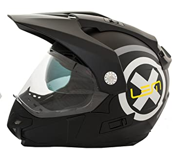 Casco Moto LEM - Trail X Deco- NEGRO MATE (XS)