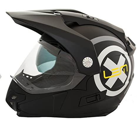 Casco Moto LEM - Trail X Deco- NEGRO MATE (L): Amazon.es ...
