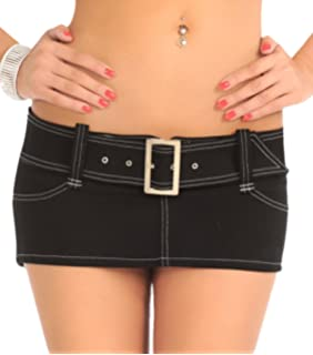 Sexy Mini Skirt Low Rise And Belted Made In The Usa At Amazon