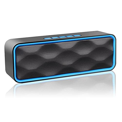 ZoeeTree S1 Wireless Bluetooth Speaker with HD Audio and Enhanced Bass, Built-In Dual Driver Speakerphone, Bluetooth 4.2, Blue