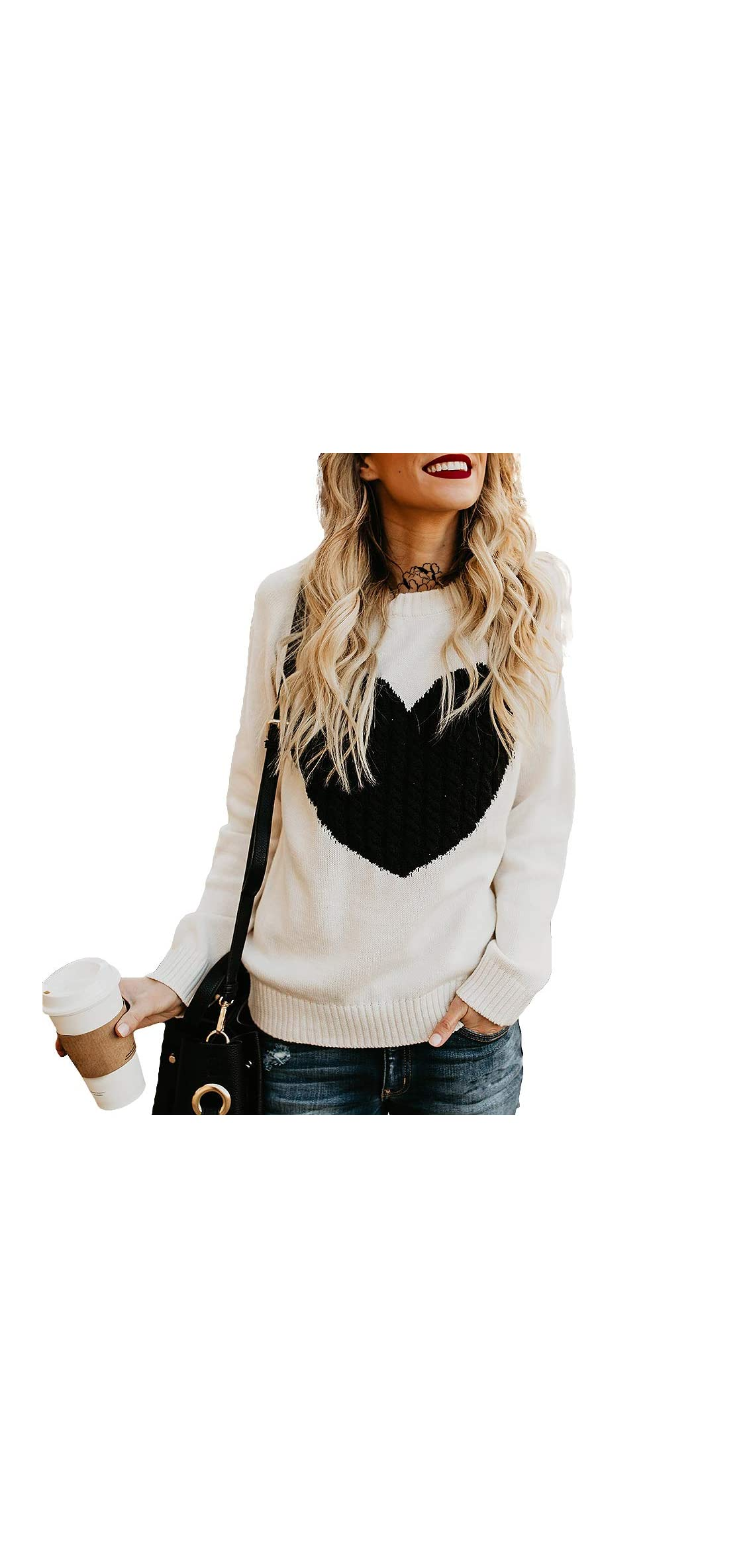 Long Sleeve Sweater Color Block Pullover Jumper Knits Top