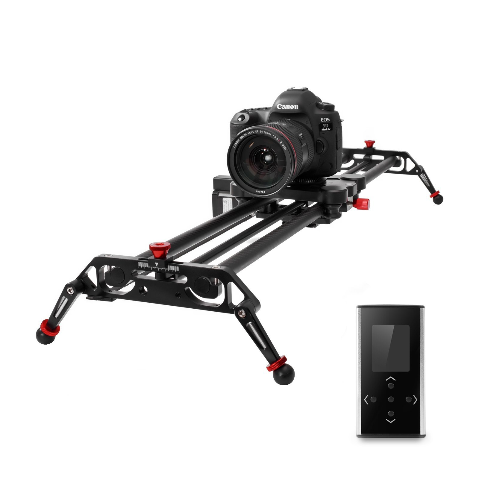 GVM Camera Slider 31'' DSLR Dolly Track Parallax Sliders May Motorized Time Lapse and Video Follow Focus Shot and 120 Wide-angle Shooting
