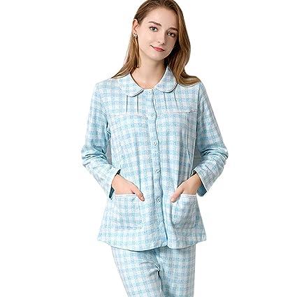 Nightwear Maternity Pajamas Pregnancy Pink Cotton Nightwear Plaid Printing Pregnancy  Sleepwear Breastfeeding Clothes Pregnant Women Gift 5ad2c4184df6