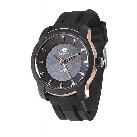 Reloj Marea B40171/1 Caballero, caucho, caja color rosse, esfera color negra, sumergible.: Amazon.es: Relojes