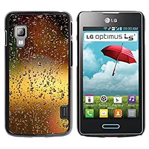 Paccase / SLIM PC / Aliminium Casa Carcasa Funda Case Cover - Water Drop Bokeh - LG Optimus L5 II Dual E455 E460