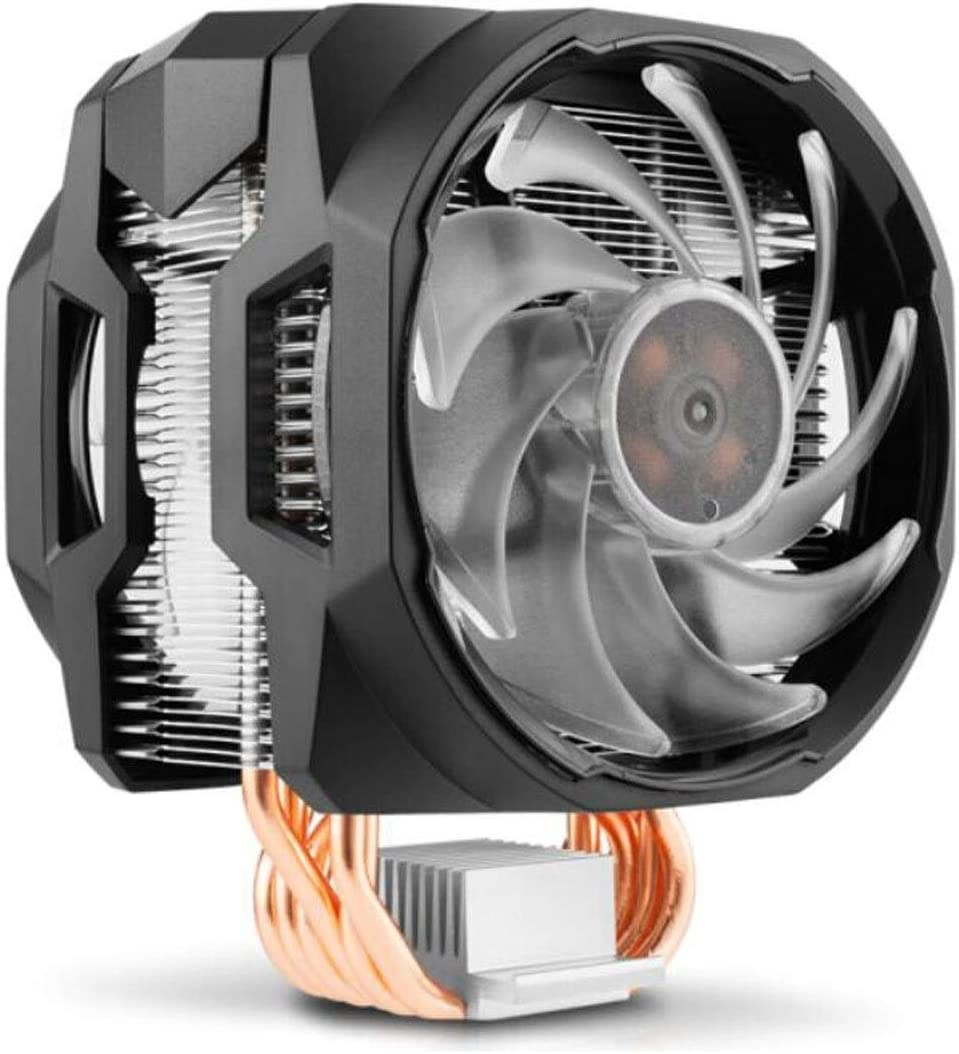 Color : Black Computer Accessories Supports I9 2066, 12CM Dual Fan, Synchronous 4 Large Board RGB Lighting Effect XIAONINGMENG CPU Air-Cooled Radiator