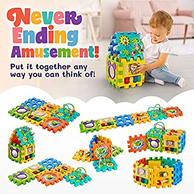 Baby Activity Cube - 6-in-1 Multi-Assembly Activity Square for ...