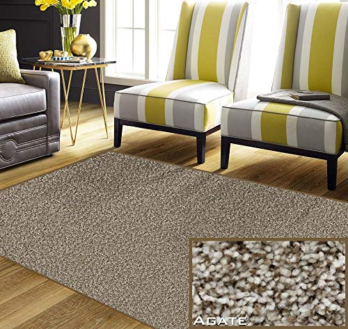 - 10'x14' - Economical Solutions Warm Touch Carpet Area Rug Collection - BROWEST, Agate | 5/8