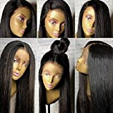 Human Hair Wigs 360 Wig Pre Plucked 360 Lace Wig 150%-180% Density Straight Human Hair Wigs for Women with Baby Hair Brazilian Virgin Human Hair Wigs for Any Part 20'' 360 Lace Frontal wig