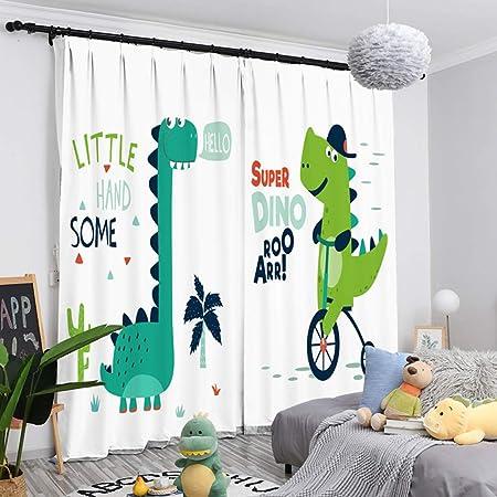Rideaux pour enfants, motif dinosaure/protection de l ...
