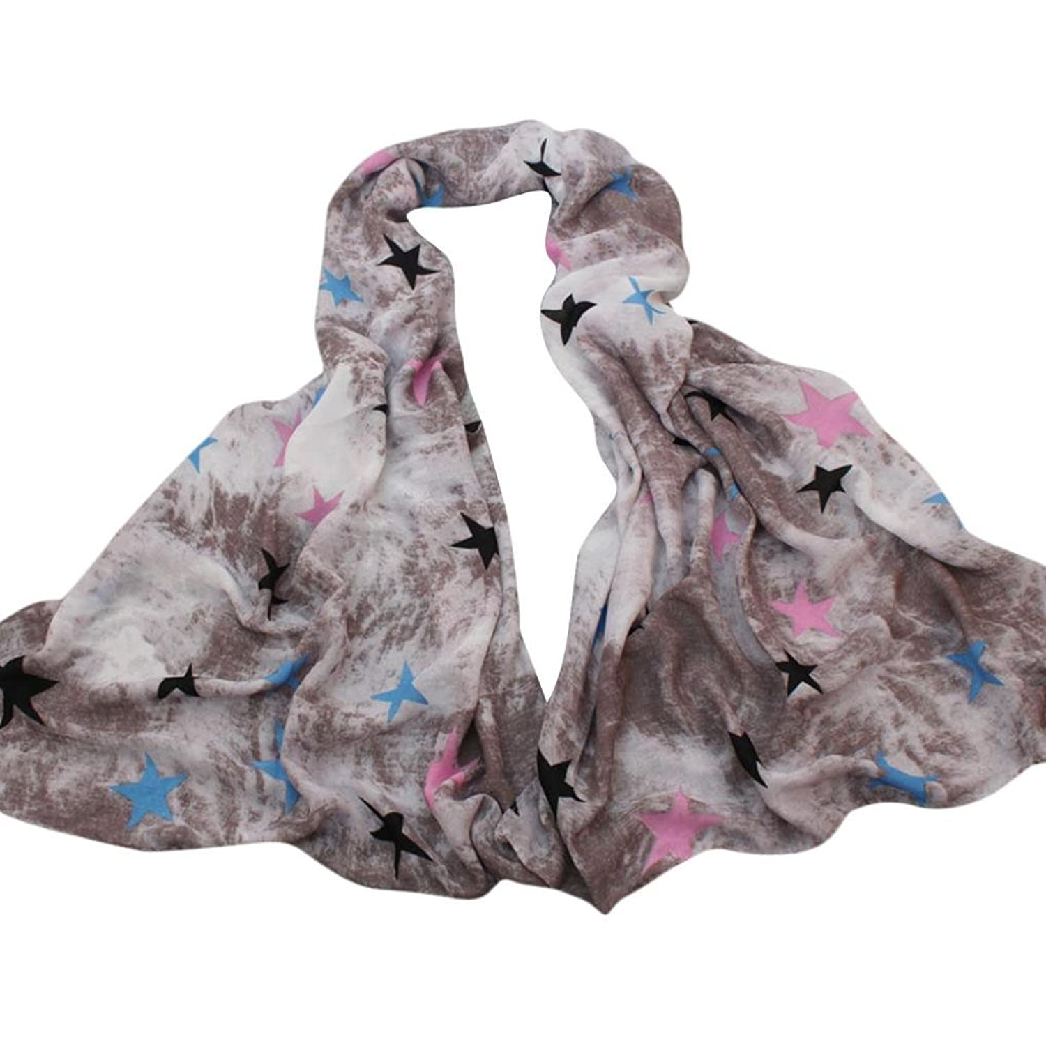 WensLTD Fashion Women Girls Warm Long Wrap Scarf Printing Shawl Cotton Scarf Scarves