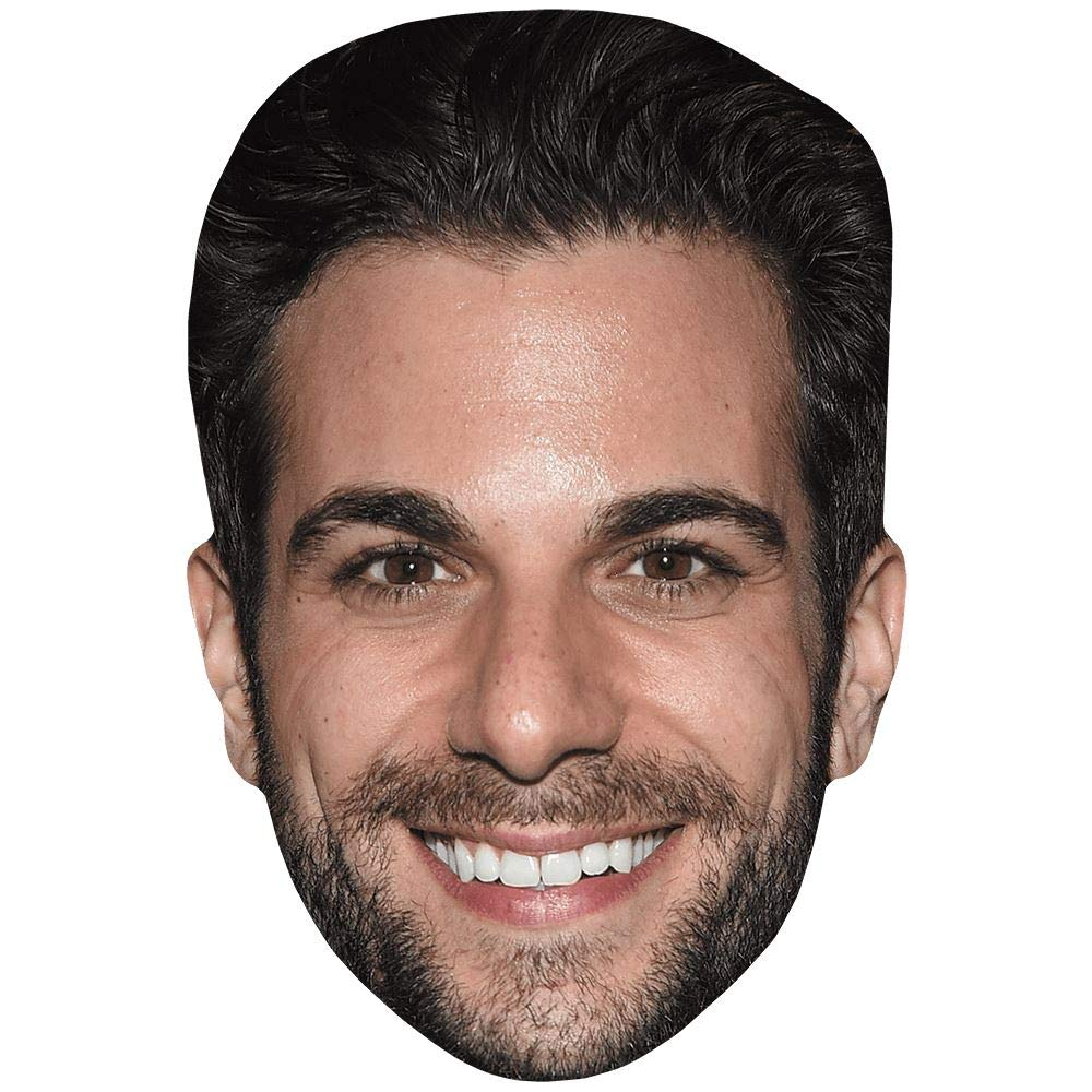 Beard facce di cartone Frank De Julio Maschere di persone famose