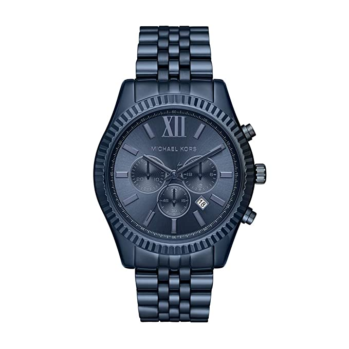 Relojes michael kors Lexington reloj cronógrafo, 44 mm, Azulhttps://amzn.to/2RX3naf