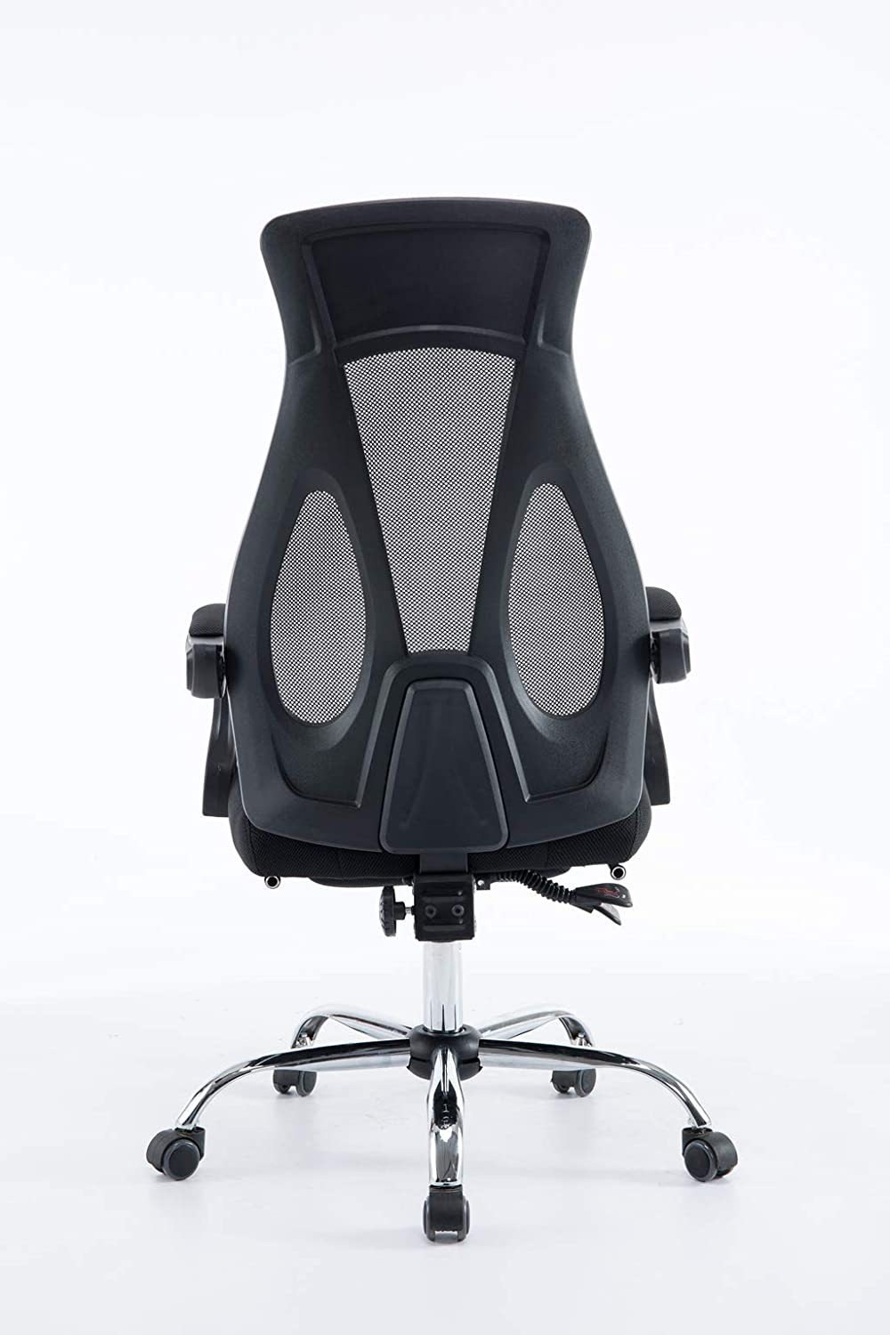 Ergonomic Office Chair 155/° Reclining Computer Chair Headrest High Back Mesh Black-Thick Seat Cushion-Foot Rest
